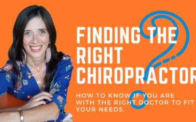 Finding the Right Chiropractor for YOU!